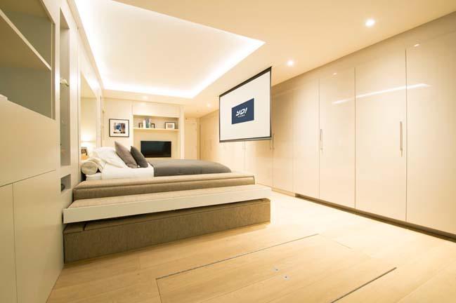 Căn hộ nhỏ đẹp với chiếc giường giấu trên trần nhà