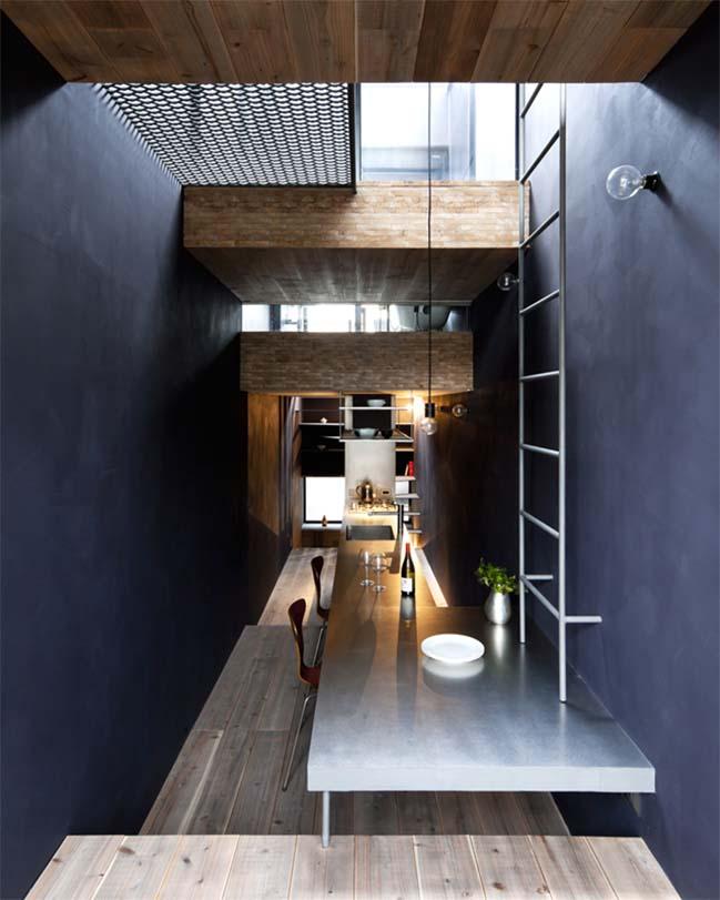 thiet ke nha dep 03 Chia sẻ thiết kế nhà phố đẹp 4 tầng với bề ngang chỉ 1m8