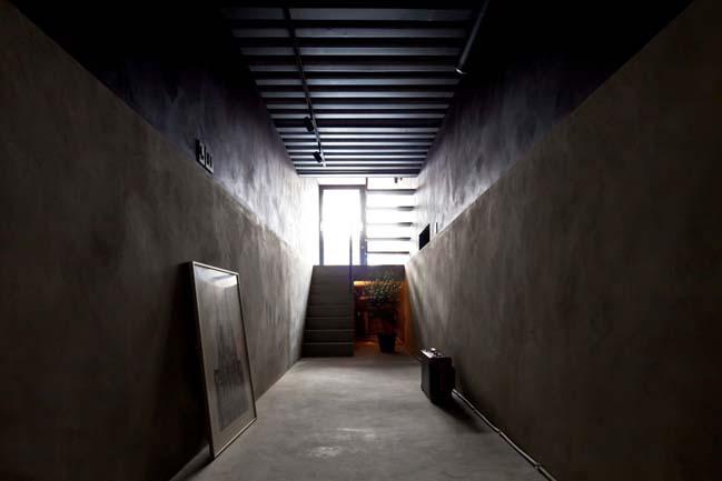 thiet ke nha dep 04 Chia sẻ thiết kế nhà phố đẹp 4 tầng với bề ngang chỉ 1m8