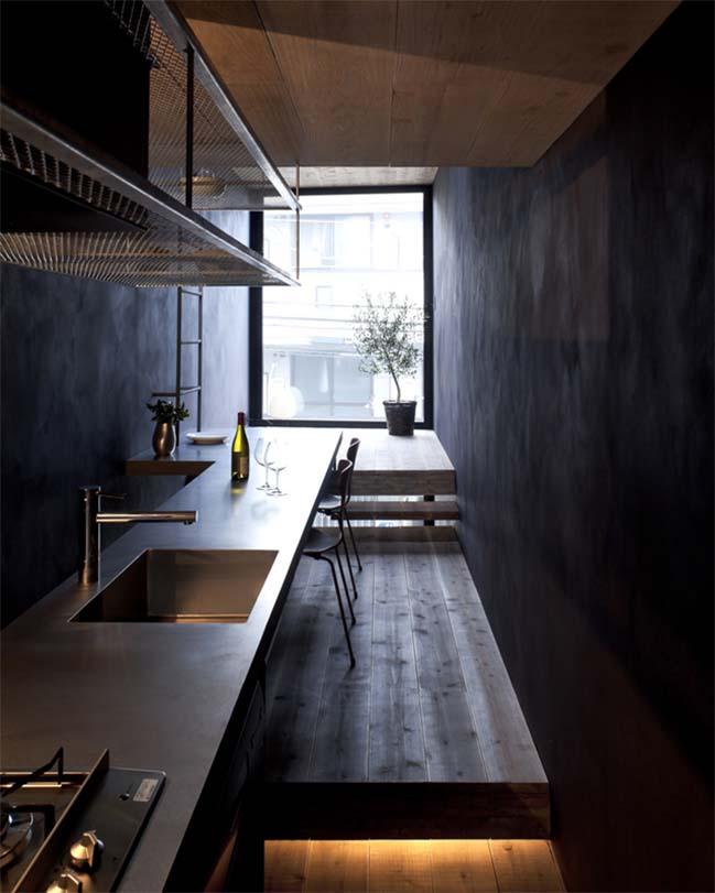 thiet ke nha dep 05 Chia sẻ thiết kế nhà phố đẹp 4 tầng với bề ngang chỉ 1m8