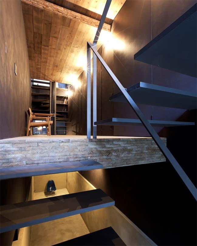 thiet ke nha dep 06 Chia sẻ thiết kế nhà phố đẹp 4 tầng với bề ngang chỉ 1m8