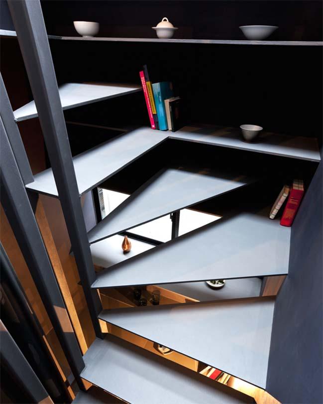 thiet ke nha dep 09 Chia sẻ thiết kế nhà phố đẹp 4 tầng với bề ngang chỉ 1m8
