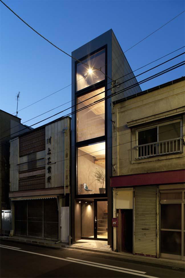 thiet ke nha dep 11 Chia sẻ thiết kế nhà phố đẹp 4 tầng với bề ngang chỉ 1m8
