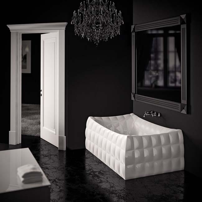 phong tam dep sang trong 02 Phong cách thiết kế phòng tắm đẹp lấy cảm hứng từ thời trang