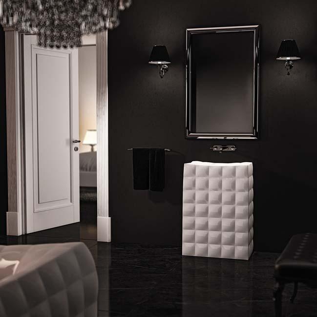 phong tam dep sang trong 03 Phong cách thiết kế phòng tắm đẹp lấy cảm hứng từ thời trang