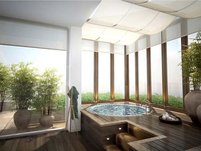 can ho penthouse tai sai gon pearl 05 Chiêm ngưỡng căn hộ penthouse cao cấp sang trọng tại Sài Gòn Pearl