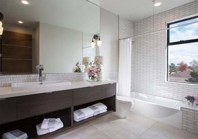 18 mẫu phòng tắm đẹp với nội thất gỗ sang trọng
