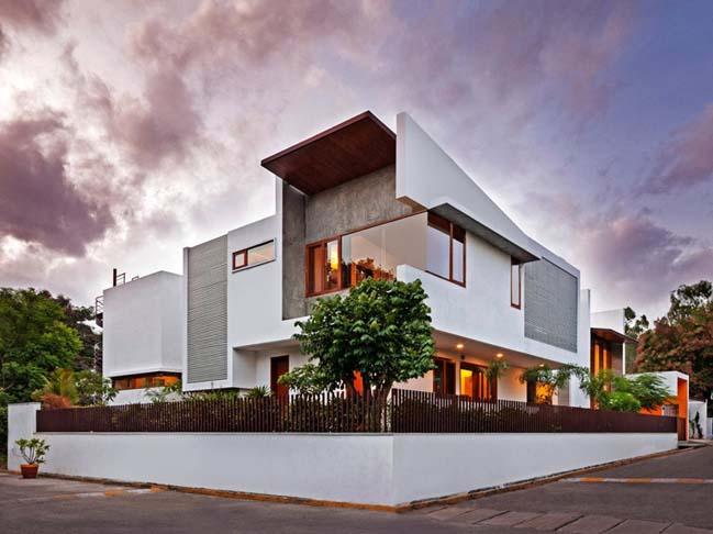 thiet ke biet thu dep 01 Thiết kế kiến trúc và thiết kế nội thất biệt thự đẹp hình chữ L