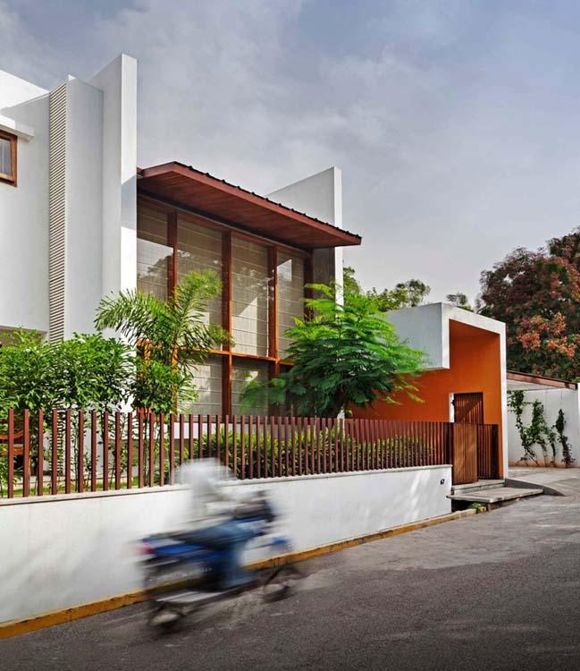 thiet ke biet thu dep 02 Thiết kế kiến trúc và thiết kế nội thất biệt thự đẹp hình chữ L