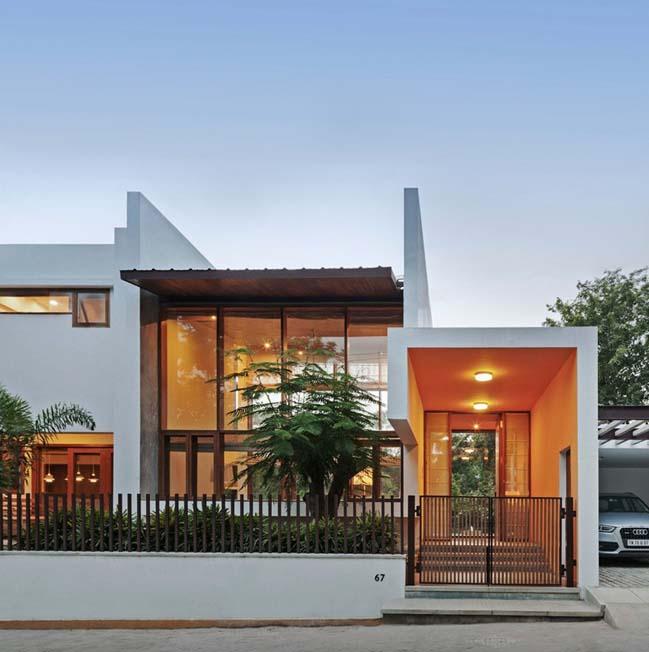 thiet ke biet thu dep 04 Thiết kế kiến trúc và thiết kế nội thất biệt thự đẹp hình chữ L