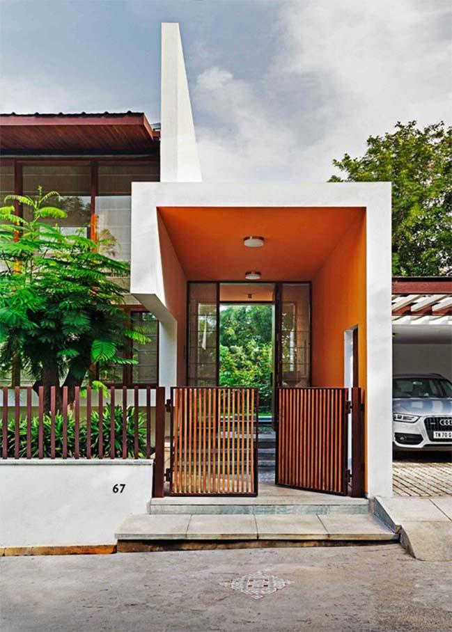 thiet ke biet thu dep 05 Thiết kế kiến trúc và thiết kế nội thất biệt thự đẹp hình chữ L