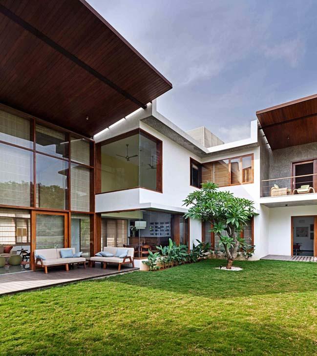 thiet ke biet thu dep 07 Thiết kế kiến trúc và thiết kế nội thất biệt thự đẹp hình chữ L