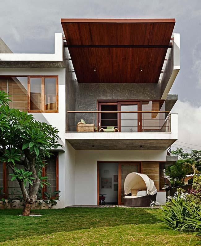 thiet ke biet thu dep 08 Thiết kế kiến trúc và thiết kế nội thất biệt thự đẹp hình chữ L