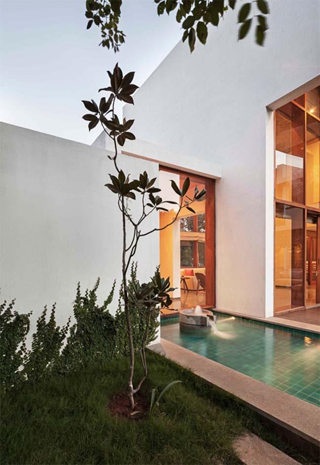 thiet ke biet thu dep 10 Thiết kế kiến trúc và thiết kế nội thất biệt thự đẹp hình chữ L