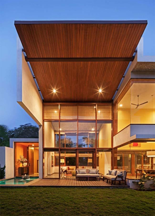 thiet ke biet thu dep 11 Thiết kế kiến trúc và thiết kế nội thất biệt thự đẹp hình chữ L