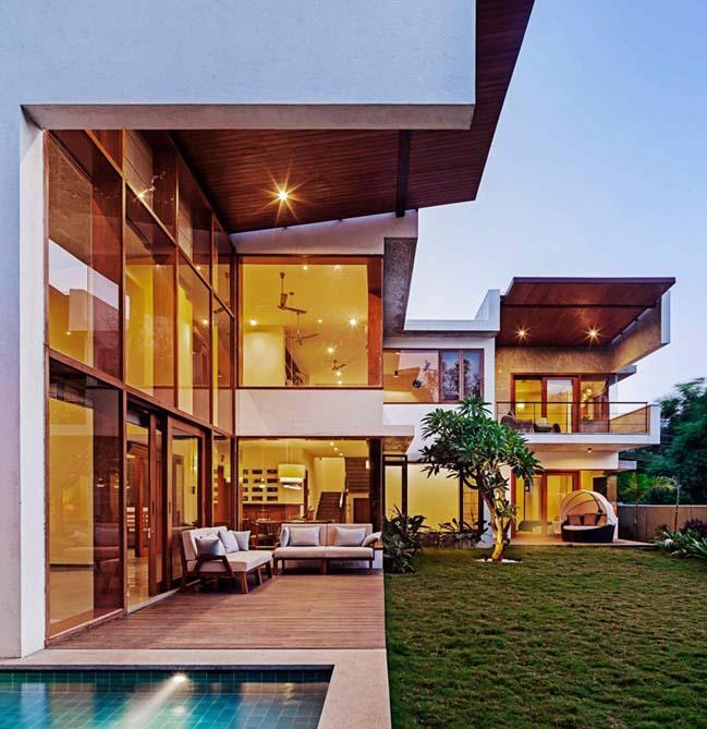 thiet ke biet thu dep 12 Thiết kế kiến trúc và thiết kế nội thất biệt thự đẹp hình chữ L