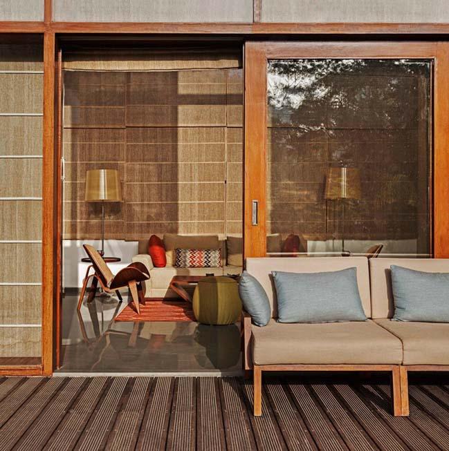 thiet ke biet thu dep 13 Thiết kế kiến trúc và thiết kế nội thất biệt thự đẹp hình chữ L