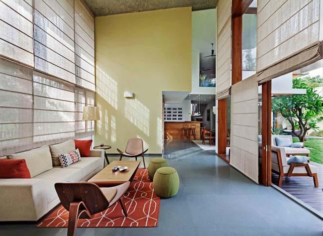 thiet ke biet thu dep 14 Thiết kế kiến trúc và thiết kế nội thất biệt thự đẹp hình chữ L