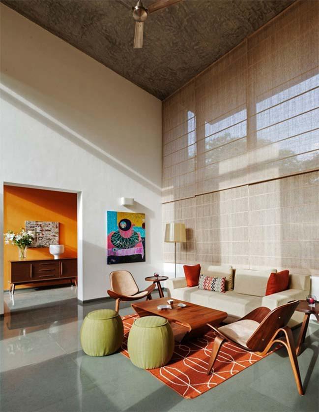 thiet ke biet thu dep 15 Thiết kế kiến trúc và thiết kế nội thất biệt thự đẹp hình chữ L