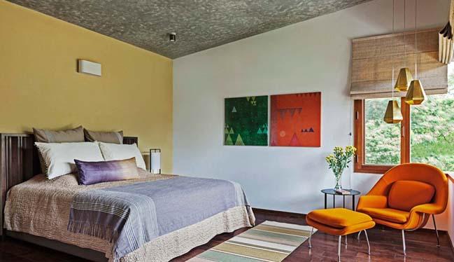 thiet ke biet thu dep 18 Thiết kế kiến trúc và thiết kế nội thất biệt thự đẹp hình chữ L