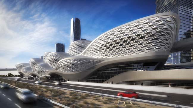 Kiệt tác kiến trúc của nhà ga KAFD tại Ả Rập Saudi