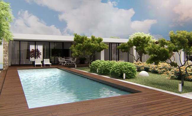 Mẫu biệt thự vườn với thiết kế hiện đại sang trọng