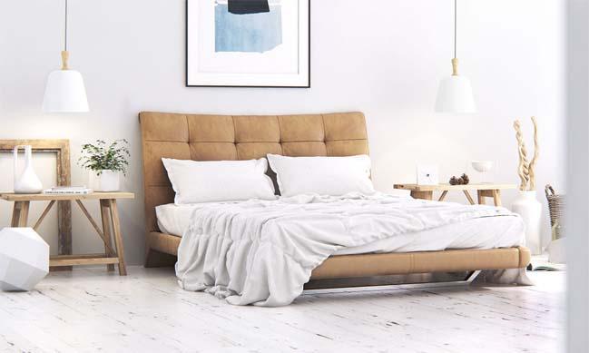 Phòng ngủ đẹp với phong cách Scandinavian trắng sáng