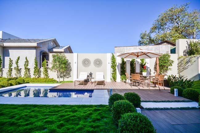 Sân vườn đẹp với thiết kế hiện đại