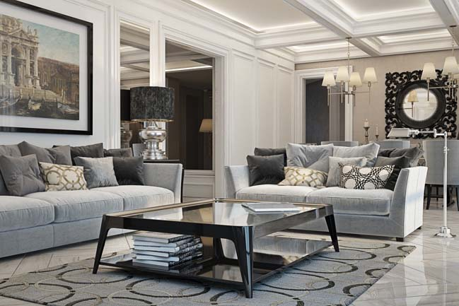 phong khach dep 01 Chiêm ngưỡng phòng khách đẹp với thiết kế đương đại sang trọng