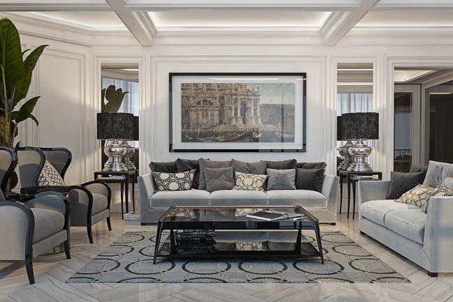 phong khach dep 02 Chiêm ngưỡng phòng khách đẹp với thiết kế đương đại sang trọng