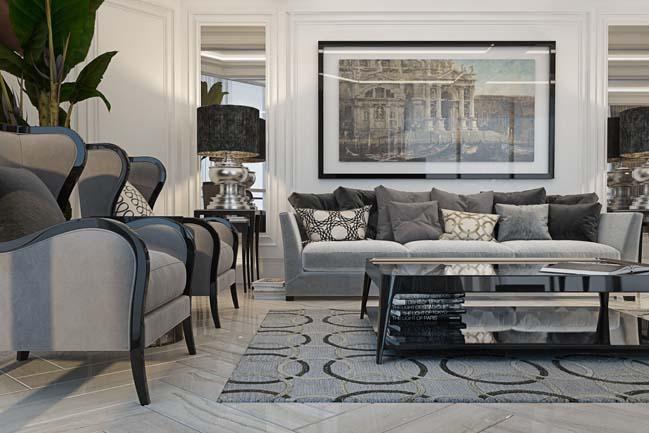 phong khach dep 04 Chiêm ngưỡng phòng khách đẹp với thiết kế đương đại sang trọng