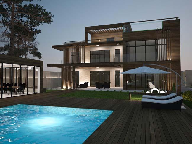 nha dep 01 Thiết kế nhà đẹp với kiến trúc phong cách đương đại sang trọng