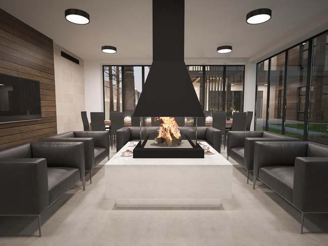 nha dep 02 Thiết kế nhà đẹp với kiến trúc phong cách đương đại sang trọng