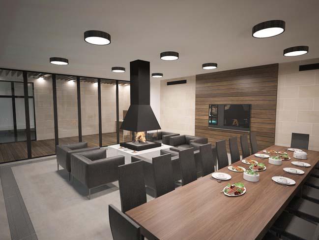 nha dep 05 Thiết kế nhà đẹp với kiến trúc phong cách đương đại sang trọng
