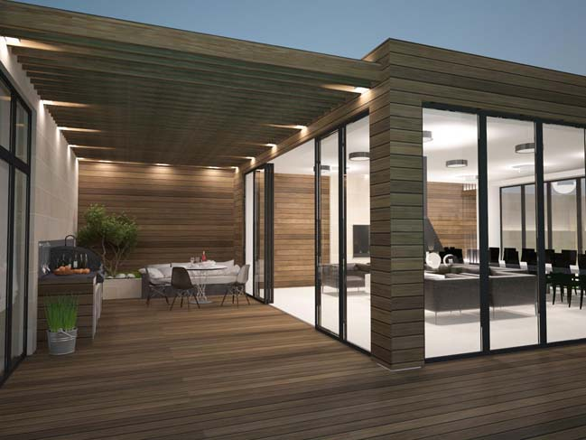 nha dep 08 Thiết kế nhà đẹp với kiến trúc phong cách đương đại sang trọng