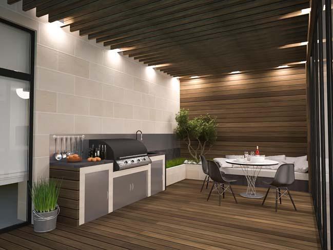 nha dep 09 Thiết kế nhà đẹp với kiến trúc phong cách đương đại sang trọng