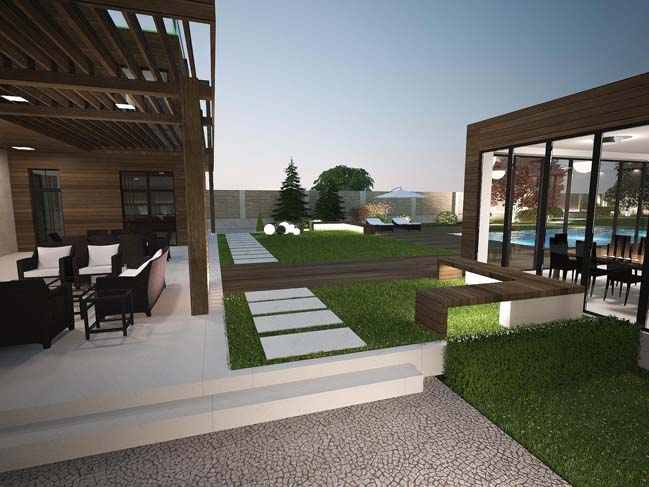 nha dep 11 Thiết kế nhà đẹp với kiến trúc phong cách đương đại sang trọng