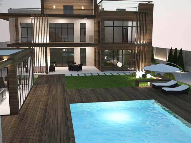 nha dep 12 Thiết kế nhà đẹp với kiến trúc phong cách đương đại sang trọng