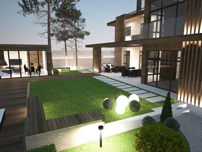 nha dep 13 Thiết kế nhà đẹp với kiến trúc phong cách đương đại sang trọng