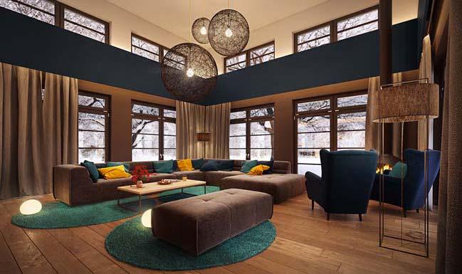 Biệt thự đẹp ấm cúng nhờ sự kết hợp của màu sắc
