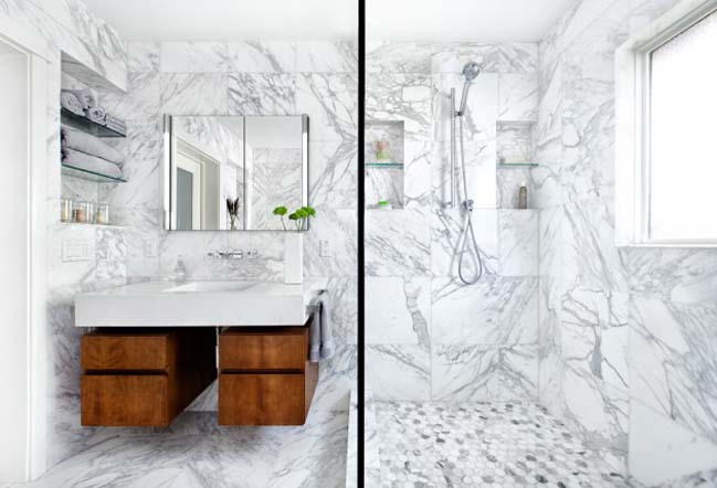 15 mẫu phòng tắm đẹp với đá hoa cương sang trọng
