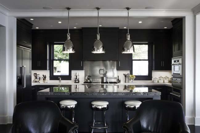 13 mẫu nhà bếp đẹp với gam màu tối sang trọng