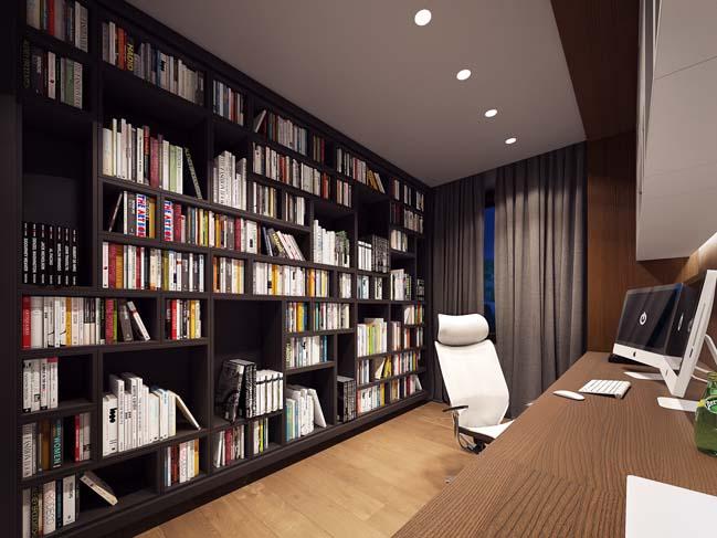 Nội thất sang trọng và hiện đại cho nhà đẹp mái chữ A