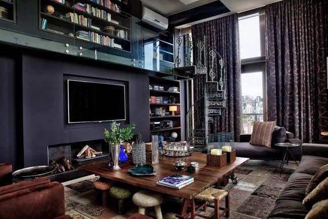 Penthouse 2 tầng với thiết kế sang trọng và ấm cúng