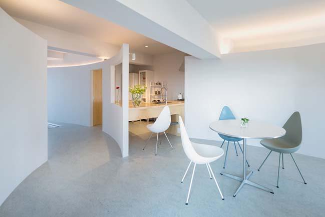 Cải tạo căn hộ chung cư với tường cong quyến rũ