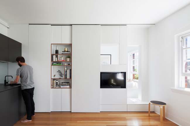 can ho nho dep 01 Gợi ý mẫu thiết kế nội thất của căn hộ 27m2