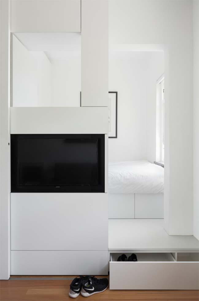 can ho nho dep 12 Gợi ý mẫu thiết kế nội thất của căn hộ 27m2