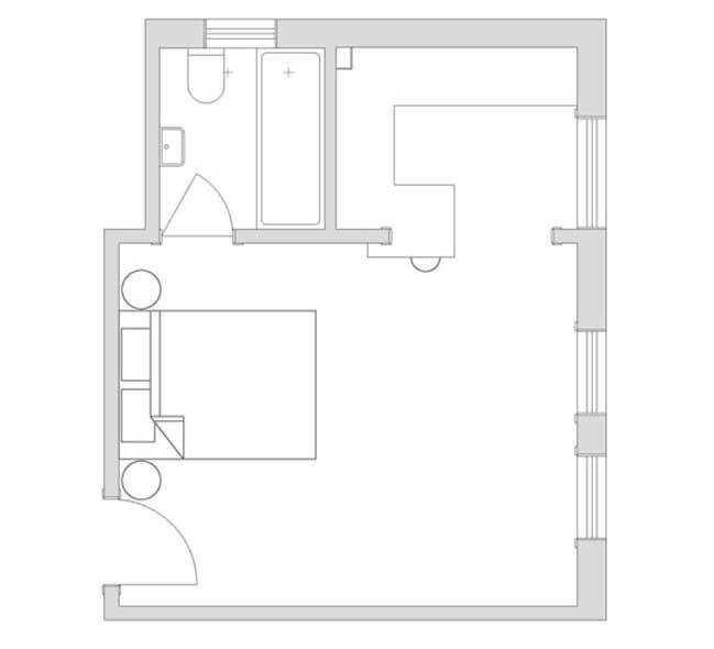 can ho nho dep 13 Gợi ý mẫu thiết kế nội thất của căn hộ 27m2