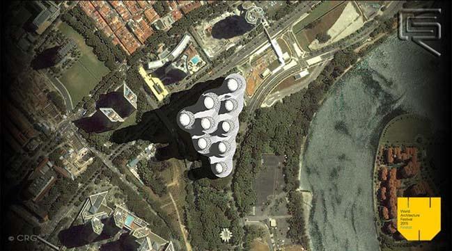 Nhà cao tầng với kiến trúc bằng tre ấn tượng