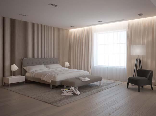 Mẫu nhà đẹp 2 tầng với nội thất trắng sáng